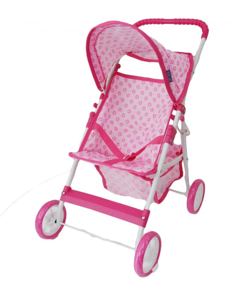 Fehér rózsaszín mintás négykerekű baba babakocsi - Babakocsik ... 8f1c6a2e4a