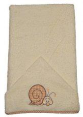 Csigás hímzett babakifogó 75×120 cm ekrü