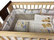 Mama Kiddies Sofie Dreams 5 részes babaágynemű 360°-os rácsvédővel macis mintával bézs színben