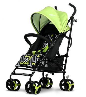Mama Kiddies Mignon full extrás esernyőre csukható sport babakocsi zöld színben + Ajándék