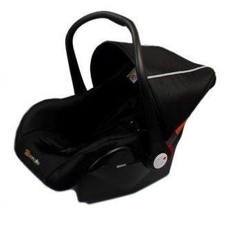 MamaKiddies Prémium Baby fekete babahordozó