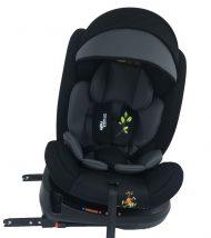 ISOFIX-es 360°-ban forgatható Mama Kiddies Rolling Safari biztonsági autósülés (0-36 kg) Lion mintával + ajándékok