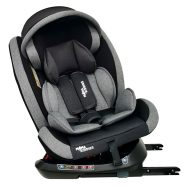 ISOFIX-es 360°-ban forgatható Mama Kiddies Rotary Protect GT biztonsági autósülés (0-36 kg) szürke színben ajándék napvédővel