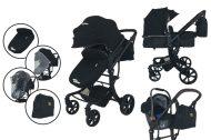 Mama Kiddies Sun Black Galaxy 3az1-ben babakocsi kiegészítőkkel