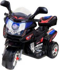 Háromkerekű elektromos sportmotor fekete-piros színben