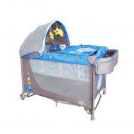 Mama Kiddies VIP kék (emelhető magasságú és ringatható) Utazóágy + Szúnyogháló + Ajándék