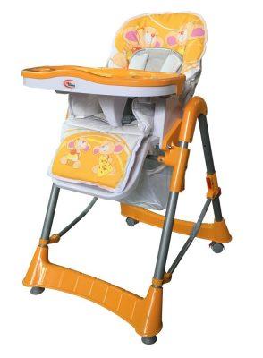 MamaKiddies ProComfort narancs színű, állatkás multifunkciós etetőszék + Ajándék