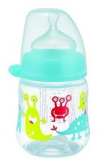 NIP PP széles szájú cumisüveg 150ml szilikon tejes etetőcumival - fiús