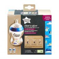 2 db 260 ml-es BPA-mentes Tommee Tippee Cumisüveg color duo pack