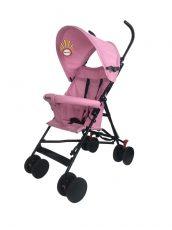 Smartly esernyőre csukható sport babakocsi pink színben