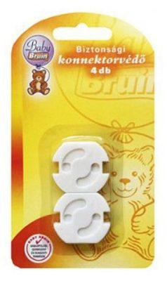 4 db Baby Bruin Biztonsági konnektorvédő, konnektorzár - a konnektor tovább használható