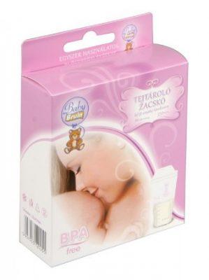 20 db Baby Bruin tejtároló zacskó BPA-mentes