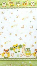 Mama Kiddies Baby Bear 2 részes ovis ágyneműhuzat Bagoly zöld színben