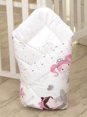 Mama Kiddies Baby Bear kókuszpólya fehér színben balett mintával
