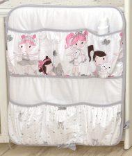Mama Kiddies Baby Bear zsebes tároló fehér színben balett mintával