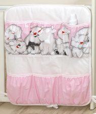 Mama Kiddies Baby Bear zsebes tároló pink színben jegesmaci mintával