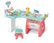 Mama Kiddies 27 részes full extrás orvosi asztal székkel és rengeteg extrával pink-kék színben
