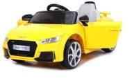 Audi TT RS Roadster elektromos autó távirányítóval sárga színben (dupla motor és akkumulátor)