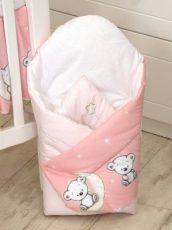 Mama Kiddies Baby Bear kókuszpólya rózsaszín macis mintával