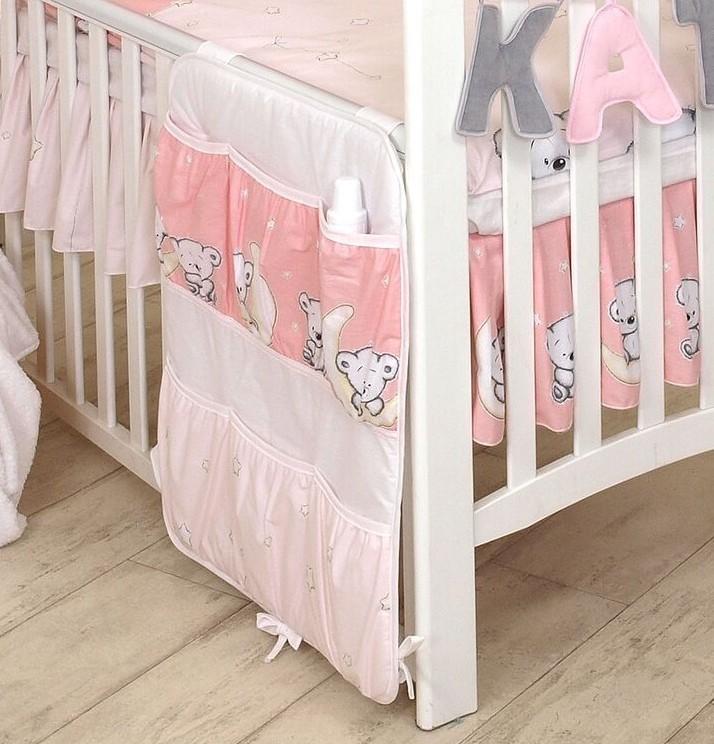 MamaKiddies Baby Bear zsebes tároló rózsaszín macis mintával ... b4cbfb108f