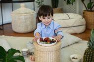 Ethnic bambusz tányér