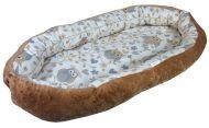 Comfort babafészek barna baglyos mintával