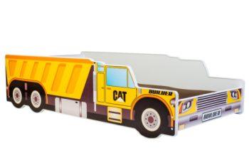 Mama Kiddies 140x70-as gyerekágy teherautós dizájnnal - CAT mintával - matraccal