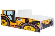 MamaKiddies 160x80-as gyerekágy traktor dizájnnal - JCB mintával - matraccal