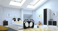 Mama Kiddies 160x80-as gyerekágy Panda dizájnnal és matraccal