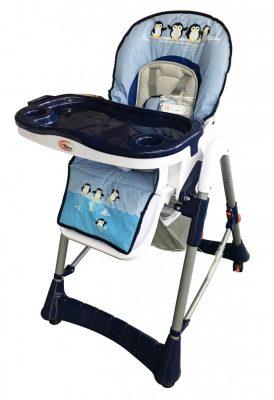 Mama Kiddies ProComfort kék pingvin mintás multifunkciós etetőszék + Ajándék