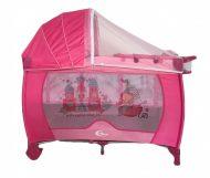 MamaKiddies VIP pink (emelhető magasságú és ringatható) Utazóágy + Szúnyogháló + Ajándék
