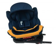 ISOFIX-es 360°-ban forgatható Mama Kiddies Champion biztonsági autósülés (0-36 kg) kék-sárga színben ajándék napvédővel