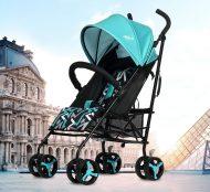 MamaKiddies Mignon full extrás esernyőre csukható sport babakocsi türkiz színben + Ajándék