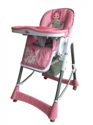 Mama Kiddies ProComfort rózsaszín angyalkás multifunkciós etetőszék + Ajándék
