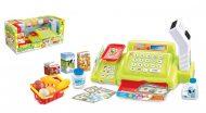Mama Kiddies 24 részes játék pénztárgép vonalkód leolvasóval és sok extrával zöld színben