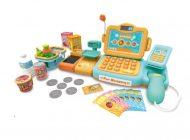 Mama Kiddies 24 részes full extrás játék pénztárgép rengeteg extrával narancs-türkíz színben