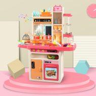 65 részes Mama Kiddies KitchenKing babakonyha szett pink-narancs színben