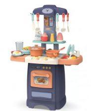 29 részes Mama Kiddies Effluent Kitchen babakonyha szett kék színben