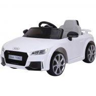 Audi TT RS Roadster elektromos autó távirányítóval fehér színben (dupla motor és akkumulátor)