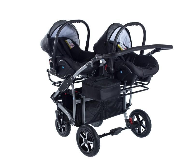 MamaKiddies TWIN 3az1-ben ikerbabakocsi kiegészítőkkel szürke színben +  Ajándék 32650d5d10