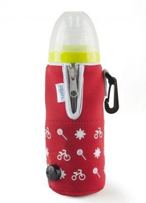 Nuvita cipzáras autós cumisüveg melegítő - piros