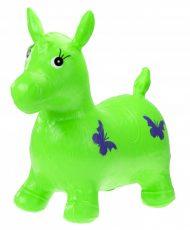 Ugráló gumi lovacska zöld színben