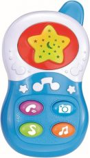 Baby Mix zenélő telefon kék színben