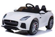 Jaguár limited edition kétüléses távirányítós elektromos autó fehér színben
