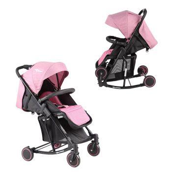 Mama Kiddies Rock ringatható sport babakocsi pink színben