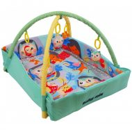 Baby Mix erdei mintás téglalap alapú peremes játszószőnyeg