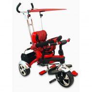 Baby Mix Maxi Trike Red prémium tricikli tolókarral, sárvédővel és lábtartóval