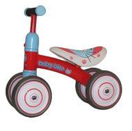 Lábbal hajtható piros négykerekű bicikli
