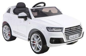 Audi Q7 fehér elektromos autó távirányítóval