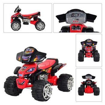 Baby Mix elektromos négykerekű motor piros színben